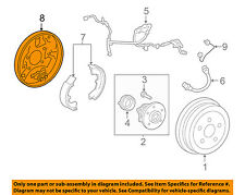 TOYOTA OEM 03-08 Corolla Rear Brake-Backing Plate Splash Dust Shield 4704402040