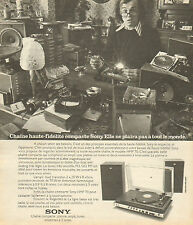 Publicité 1974  SONY chaine haute-fidélité compacte platine ampli tuner disque