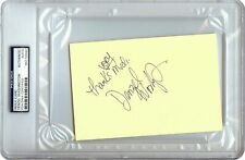Denzel Washington Signed Autographed 4X6 Index Card Vintage 1982 Auto PSA/DNA