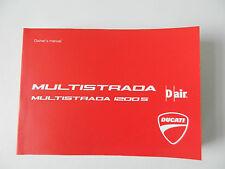 Ducati 1200 S Multistrada Bedienungsanleitung Buch English Owner´s Manuel Buch