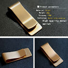 Hot Men Stainless Steel Smart Money Clip Slim Wallet ID Cash Holder Silver/Brass