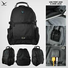 Men's Travel Backpack - Built in USB Port   Heavy Duty Tech & Gaming Design