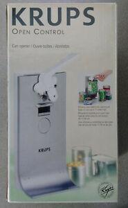 New - Modern Krups Electric Can Opener - Knife Sharpener, Integral Bottle Opener