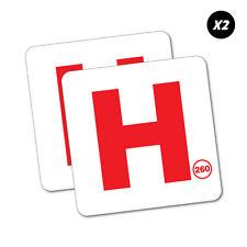 2X Hoon Red P Plate 260 Limit Sticker Aussie Car Flag 4x4 Funny Ute #5636EN