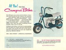 Vintage Color 1963 Fox Campus Bike Mini-Bike Ad