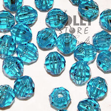 6mm Blue Turquoise Faceted Acrylic Beads 500 piece bag