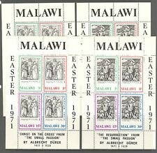 PAINTINGS, ENGRAVINGS BY DURER, EASTER ON MALAWI 1971 Scott 171a-172a, MNH