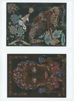 MERMAID NAUTICAL METAPHYSICAL ART DECO NOUVEAU 1/1 HAND SIGNED SMALL 10 PRINTS