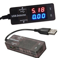 USB Power Charger Current Voltage Detector Tester Monitor Meter For Smart Phone