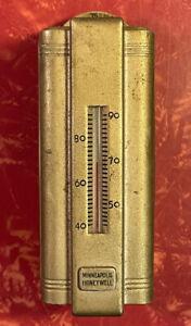 Vintage Minneapolis Honeywell Metal Thermostat Art Deco Steampunk Wall Mount USA