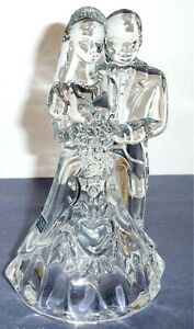 Waterford Marquis Bride & Groom Cake Topper Wedding Crystal Figurine New In Box