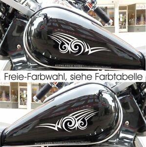2x Tribal Tank Aufkleber 24cm Motorrad Tattoo M09 Biker Sticker Set mit Farbwahl