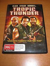 TROPIC THUNDER ( DVD , REGION 4 ) BEN STILLER , JACK BLACK , ROBERT DOWNEY JR.