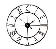 EMDÉ H134C80-0 Brooklyn Oversized 80cm Metal Wall Clock BLACK