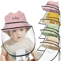 Kids Dustproof Fisherman Hat Anti Spitting Protective Visor Cap Face Shield Hat