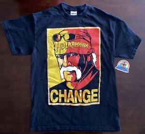 "Hulk Hogan TNA Impact Wrestling Official ""Change"" T-Shirt Medium Hulkamania"