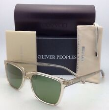 New OLIVER PEOPLES Sunglasses NDG-1 OV 5031-S 1094/52 Buff w/ Green C Glass Lens