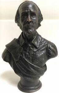 William Shakespeare solid bronze bust statue sculpture hotcast in UK Ltd edition