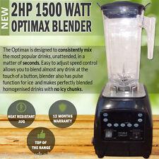 NEW 2HP 1500 Watt Multi Function Optimax Commercial Blender Food Juice Free Jug