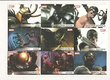 Marvel 2012 Greatest Heroes Villians Set (18 Cards) W/Thanos-Ultron-Doc Ock&Doom