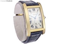 """Cartier """"Tank Americaine"""" Gold Automatik Papiere"""