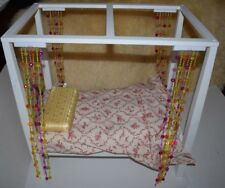 American Girl Doll Julie's Canopy Bed and Bedding
