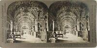 Italia Roma Vaticano La Libreria, Foto Stereo Vintage Analogica PL62L2n15