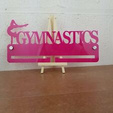 Gymnastics Medal Display Hanger Holder - 3mm Pink Acrylic Fixings And Free Post