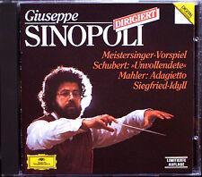 SINOPOLI: Wagner MEISTERSINGER Siegfried-Idylles SCHUBERT Symphony 8 MAHLER CD
