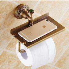 Wall Mounted Antique Brass Toilet Paper Holder Tissue Bar Bath Shelf Storage