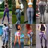 mujer YOGA Malla Running Gimnasio Leggings pantalones Fitness ropa deportiva