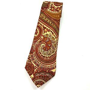 """Vintage 90s Polo Ralph Lauren Men's Necktie Tie Luxury Wool Designer 55"""" Paisley"""