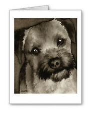 Border Terrier note cards by watercolor artist Dj Rogers
