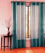 1 BRONZE GROMMET SHEER WINDOW PANEL CURTAIN TREATME DRAPE RUBY TEAL GREEN 63""