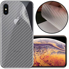 Pellicola TRASPARENTE 3D CARBON skin RETRO per Apple iPhone X / XS 5.8""
