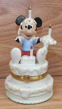 Genuine Lenox Treasures Mickey's Birthday Surprise Treasure Box *Broken - Read*
