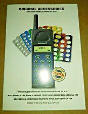 Manuale guida rapida ORIGINAL ACCESSORIES Ericsson GA 628