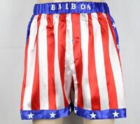 Rocky Balboa Mens Apollo Movie Boxing American Flag Shorts Trunks uk