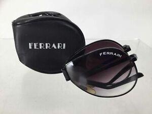 Ferrari Black Frame Aviator Folding Sunglasses