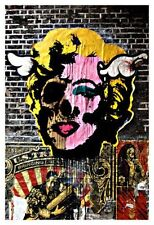DFACE MARILYN HUGE CANVAS GRAFFITI URBAN STREET ART PRINT 24x36