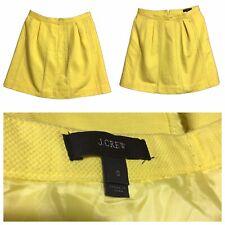 J.CREW Women's UK 8 Skirt Mini Flared A-Line Yellow Mod GoGo Quirky Fashion Sz 0