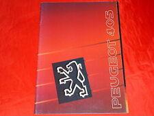 PEUGEOT 405 Limousine GL GLD GRI GRD GRDT SRDT SRI MI 16 Prospekt von 1990