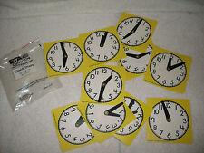 Teaching Resource:10 Eta Cuisenaire clocks dials-hour hand,second hand,big numbr