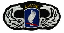 """173rd Airborne Division Wings Patch (068)4 1/2"""" x 2 1/2"""" Embroidered Patch 19432"""