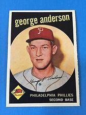 "1959 Topps #338 ""George Anderson"" Philadelphia Phillies Baseball Card (MT)"