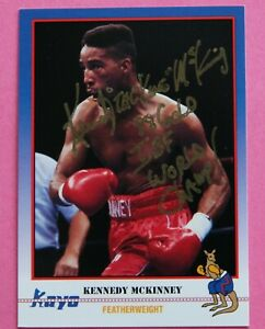 Boxing: Kennedy McKinney Autographed Trade Card