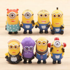 MINIONS - Despicable Me - Set of 8 Character Figurines / Cake Toppers ( NEW )