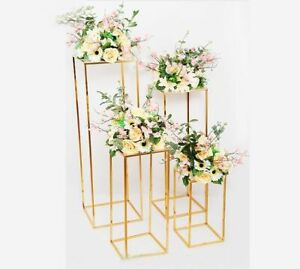 4pcs/set Geometric Placed Props Arch Background Wedding Decoration Iron Flower