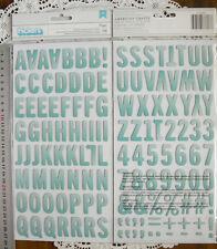 MAGGIE - SUN Vargtd MINT Chipboard 138 Alphabet & Numbers 30mmHigh&6-24mmWide L7