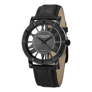 Stuhrling Original 881 03 Winchester Advanced Swiss Quartz Black Mens Watch